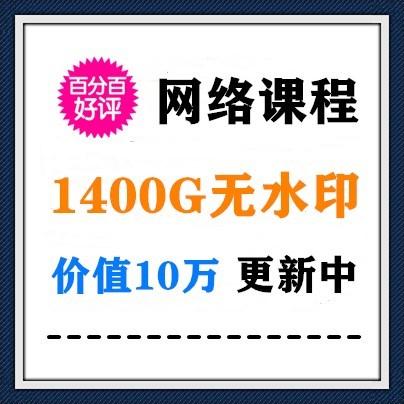 价值10万的1400G低价无水印网络课程(已下架)