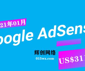 Google Adsense 项目收益(2021年01月份记录)