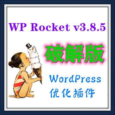 WP Rocket v3.8.5 破解版 WordPress优化插件